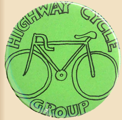the badge of the Highway Cycle Group (or Cycling Group, it really doesn't matter which