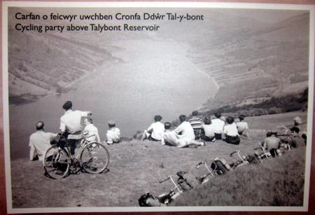 Picture of cyclists on display in the mountain centre