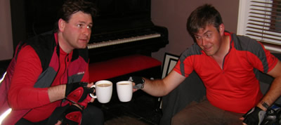 John and I have a cup of tea