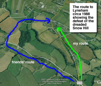 a diagram of the defeat of snow hill