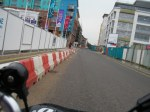 racing past the building sites on my brompton