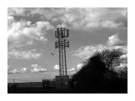 the phonemast at the top of Scotland Lane