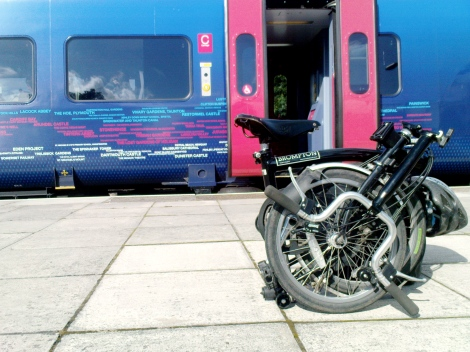The Brompton on the platform