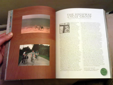 The Highway Cycle Group in The Ride Journal - apologies for the quality of the image