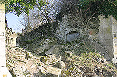 The ruins - showing the rubble