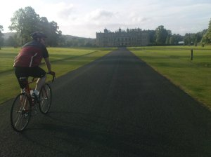 Riding towards Longleat House