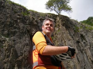 The author pauses to admire the gorge (catch his breath)
