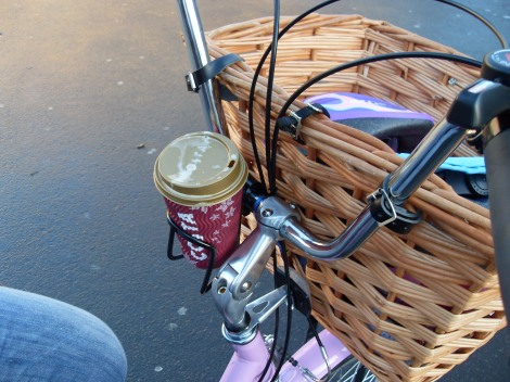 ...and here is her coffee cup holder