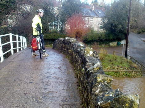 Mike on the bridge at Wellow