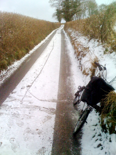 On the way back, the brompton stopped working!