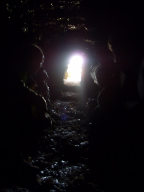 Inside the Long Barrow
