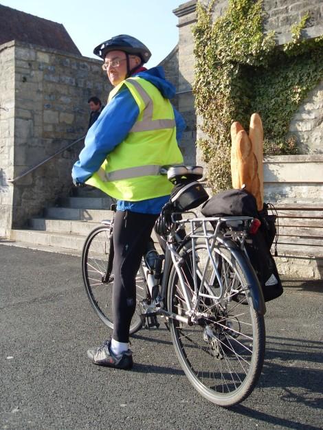 Skip on bike