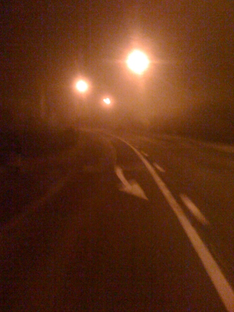 Fog bound ride home - Frome