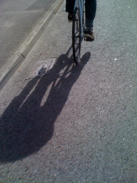 Riding a bike in Frome